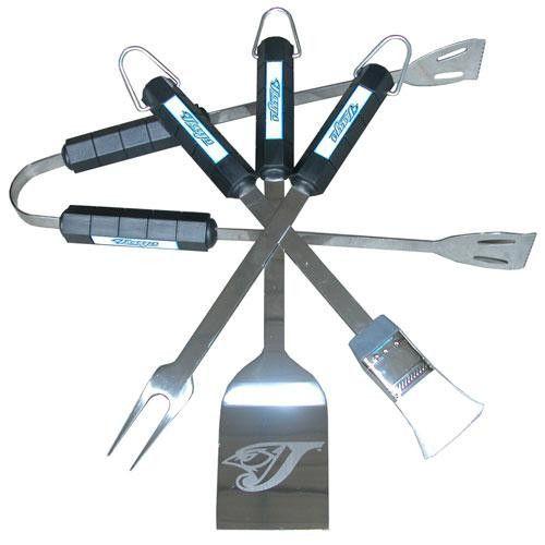 Toronto Blue Jays Mlb Bbq Tool Set Bbq Tool Set Bbq Set Grilling Tools