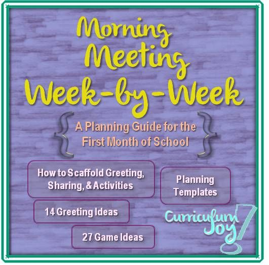 morning meeting lesson plan template - morning meeting week by week a planning guide for the