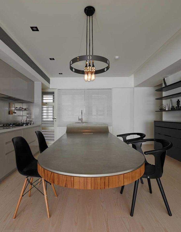 Eine ovale Beton Kücheninsel | Küche | Pinterest | Beton ...