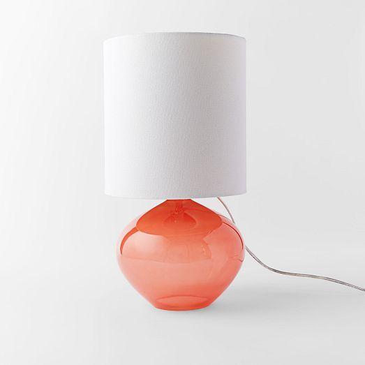 Nook Glass Vessel Table Lamp Bergamot Lamp Colorful Lamps
