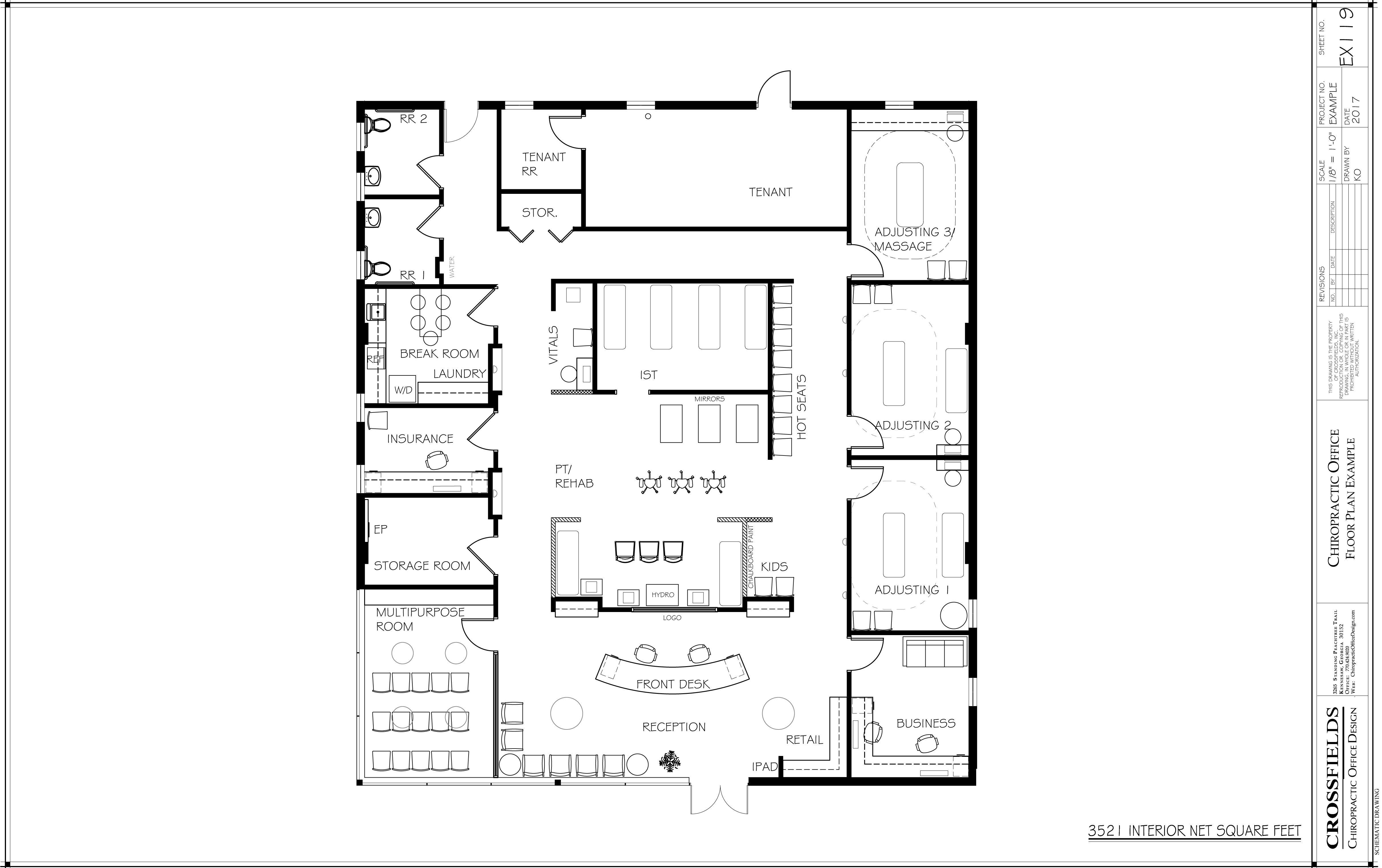 Chiropractic Office Floor Plans Versatile Medical Office Layouts Office Floor Plan Floor Plans Office Floor