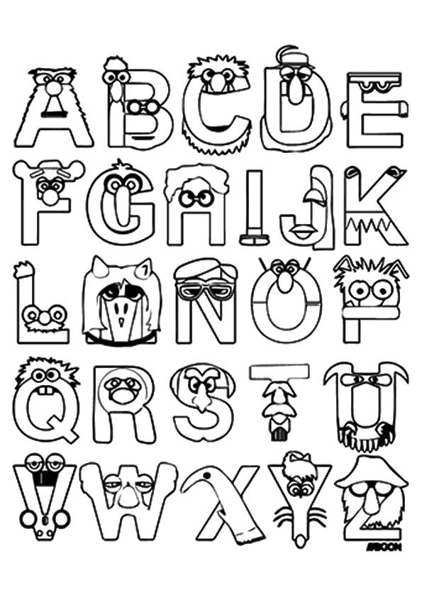 Print Coloring Image Momjunction Scrapbook Fonts Hand Lettering Alphabet Free Halloween Coloring Pages