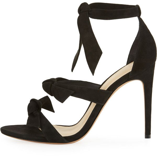 Alexandre Birman Gianna Knotted Suede Sandal, Black (1,730 CAD) ❤ liked on  Polyvore