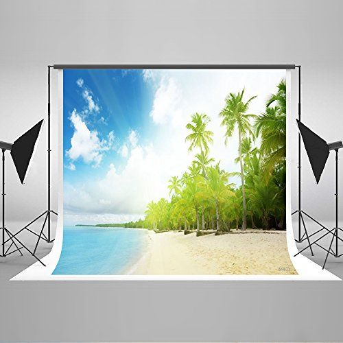 Kate 10x6.5ft Summer Beach Photography Backdrop for Photo...