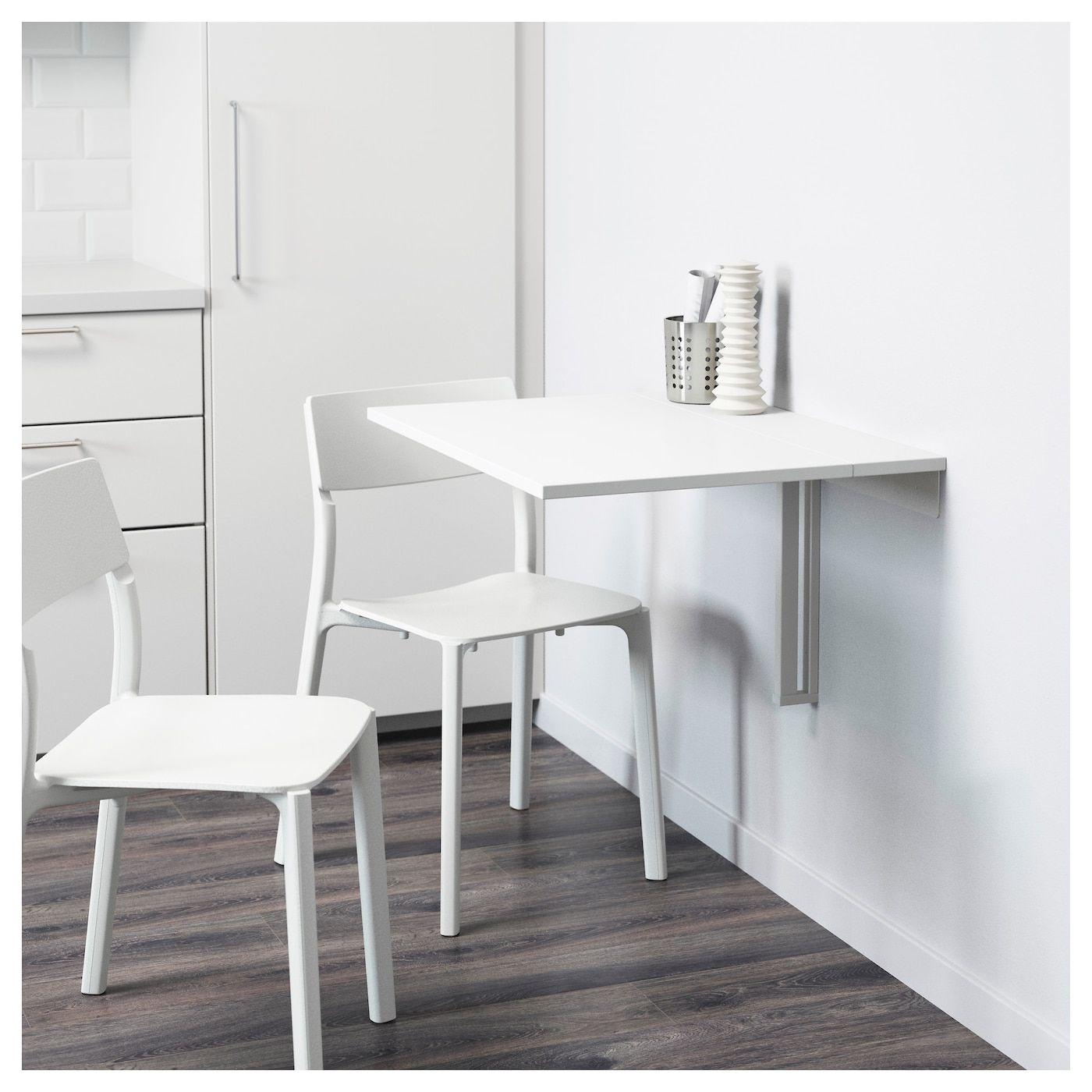 Tavolo Ribaltabile A Parete norberg tavolo ribaltabile da parete - bianco 74x60 cm (con