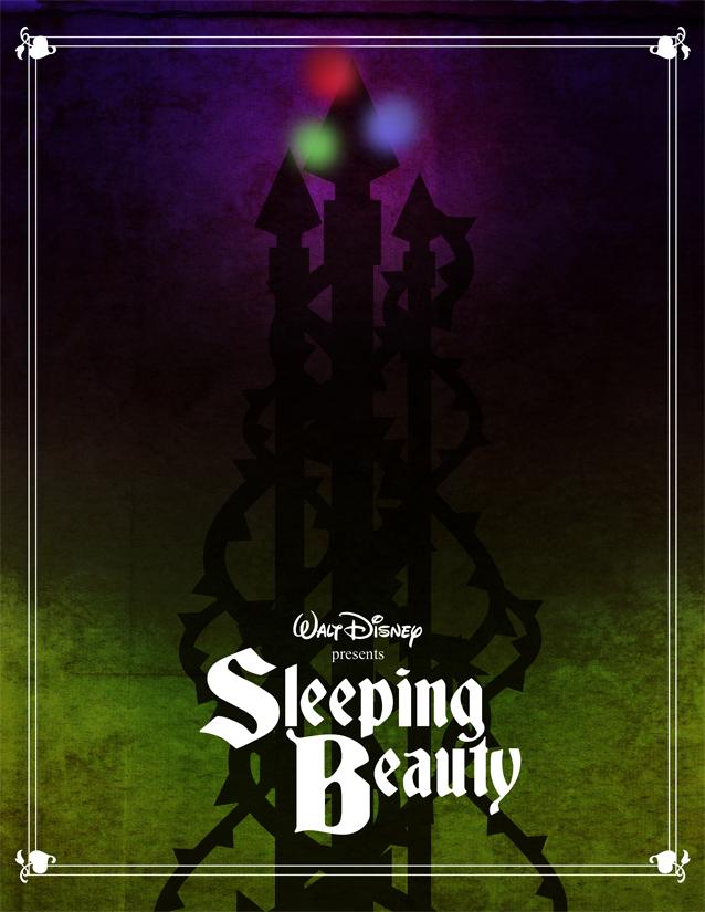 minimalist sleeping beauty poster sprookjesdisney