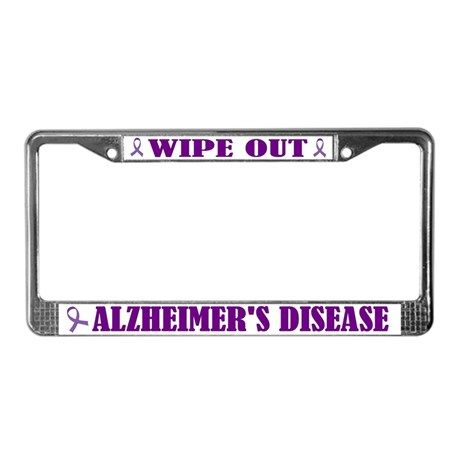 Wipe Out Alzheimer S License Plate Frame By Homewiseshopper Wipe Out License Plate Covers License Plate Frames