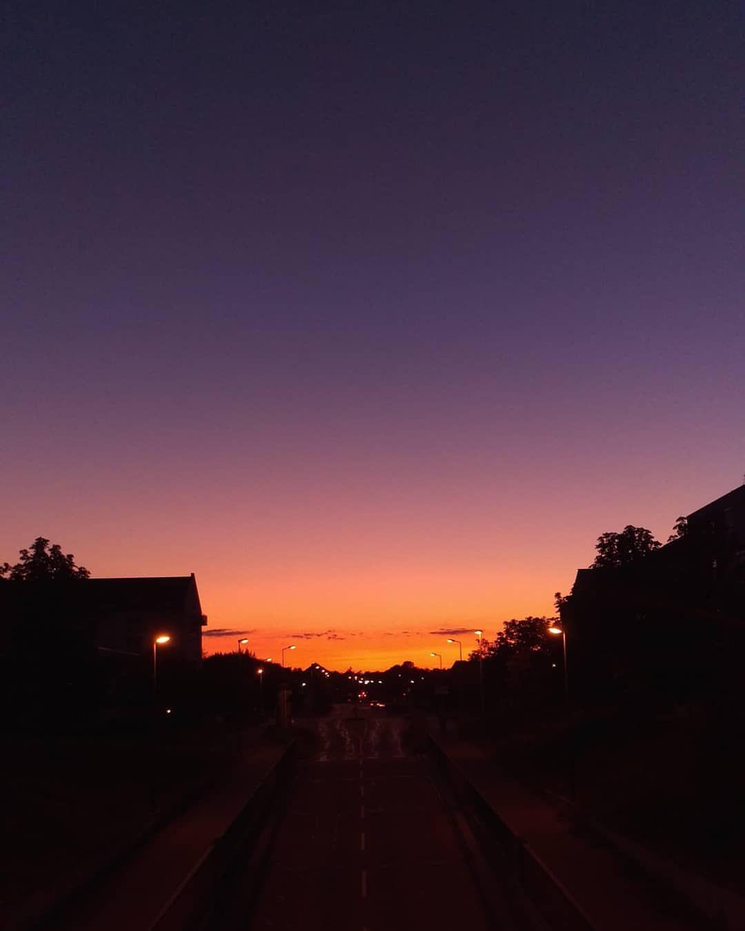 Yesterday's sunset. . . .