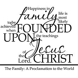 A Family Proclamation Religious Vinyl Wall Art Quote Overstock