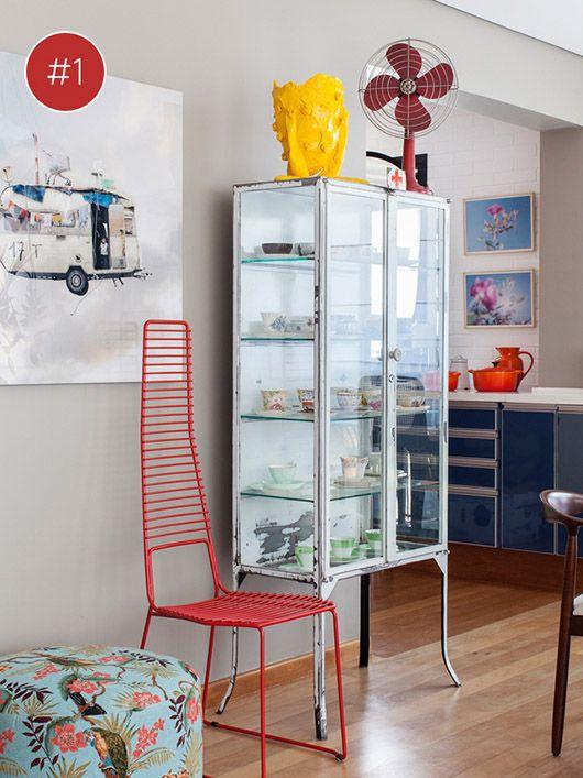 Artesanato Em Madeira De Demolição ~ armário de vidro tipo farmácia Coleções no décor