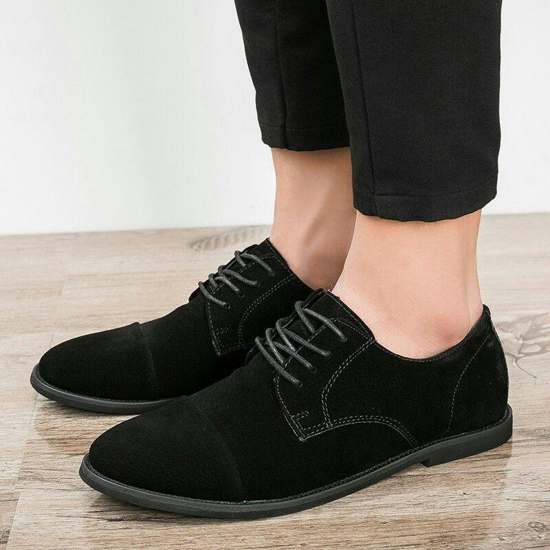 3d78ffad703 Comprar aqui    Prelesty Invierno Retro Vintage Hombres Zapatos Casuales  Hombre Italiano Pisos Zapatos de Cuero de Gamuza Caliente Con Cordones  Mocasines ...
