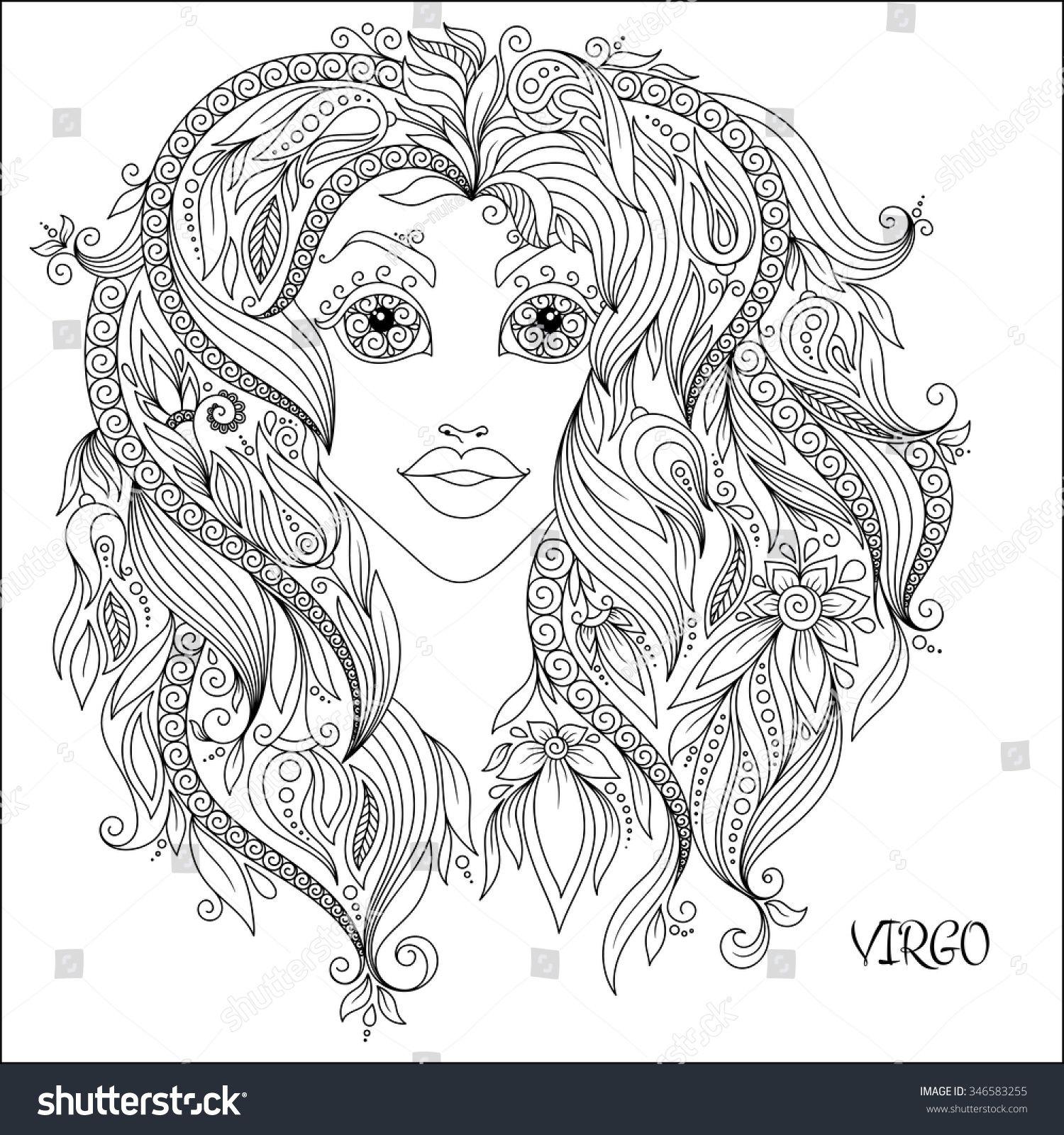 Zodiac Coloring Pages Yahoo Image Search Results Kleurboek Handen Tekenen Kunstbloemen