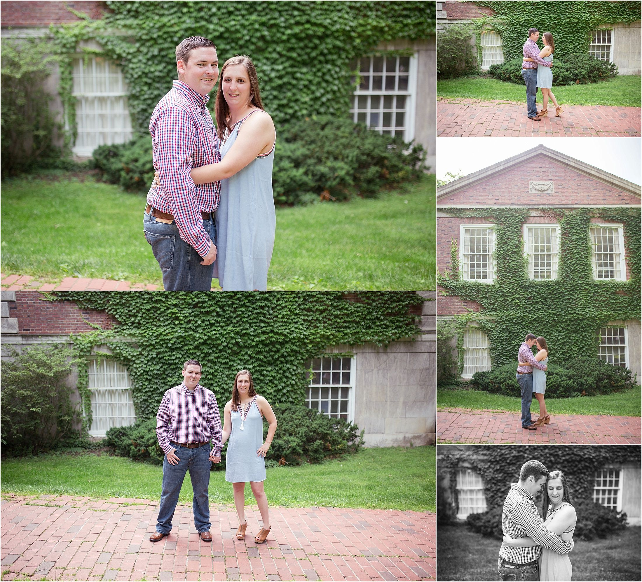 A summer engagement session at Ohio University's campus in Athens, Ohio