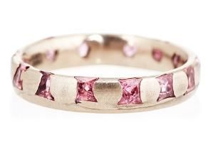 Mixed Pink Sapphires & 18k Gold Ring $2249.00 by One Kings Lane
