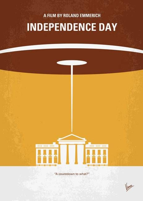 No My Independence Day Minimal Movie Poster By Chungkong Art