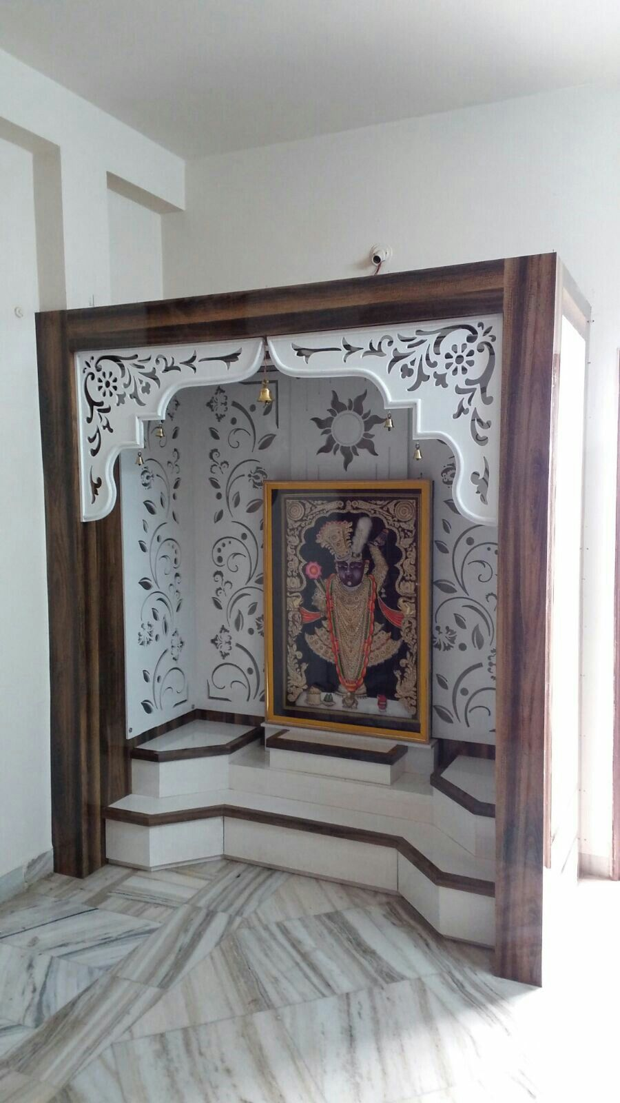 Mdf cutting arch and walls mandir design pooja room temple also karan jangid home art in pinterest rh