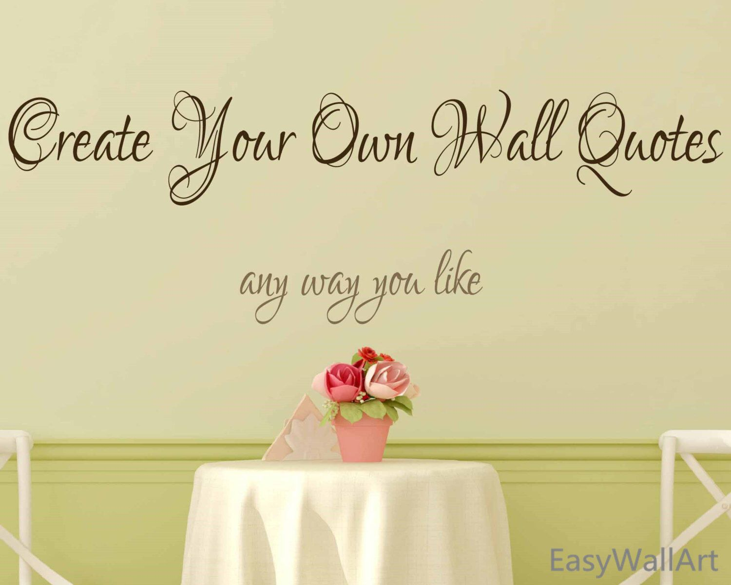 Create Your Own Wall Decal - Custom Wall Decals Quotes, Custom Vinyl Letters, Custom Vinyl Lettering Custom Wall Sayings Custom Decal #C70 by EasyWallArt on Etsy https://www.etsy.com/listing/225650677/create-your-own-wall-decal-custom-wall