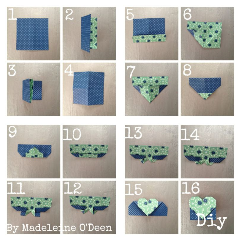 diy minute le marque page coeur origami coeur origami facile origami facile et marque page. Black Bedroom Furniture Sets. Home Design Ideas