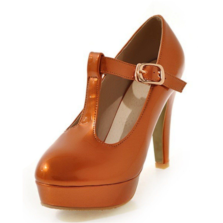 c84ee235fa5443 Stiletto Heel Synthetic Court Shoes High Heels - Orange