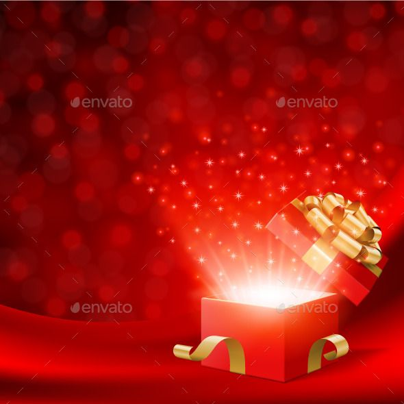 Red Christmas Background With Open Gift Box Red Christmas Background Christmas Background Red Gift Box