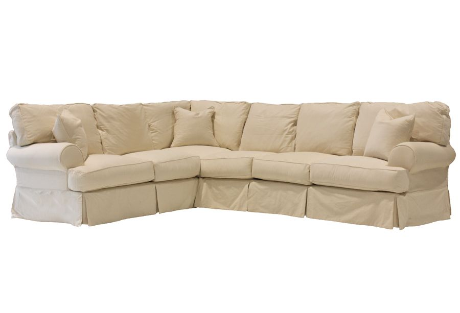 Slipcover Sectional At Turner