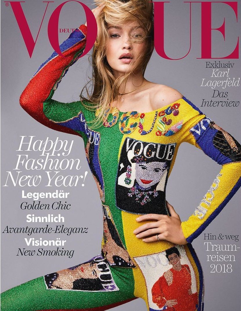 17fb841295d Gigi Hadid - Vogue Germany Magazine (January 2018)