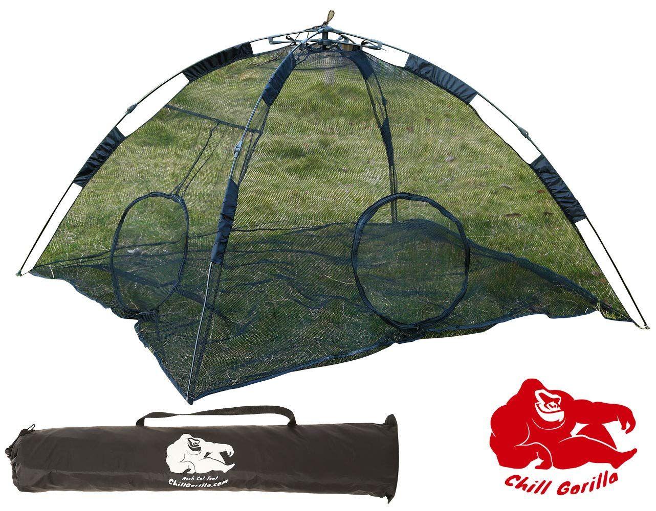 Perfect Pet Enclosure /& Playpen for Indoor /& Outdoor Pets Chill Gorilla Portable Cat Tent Tent /& Playhouse