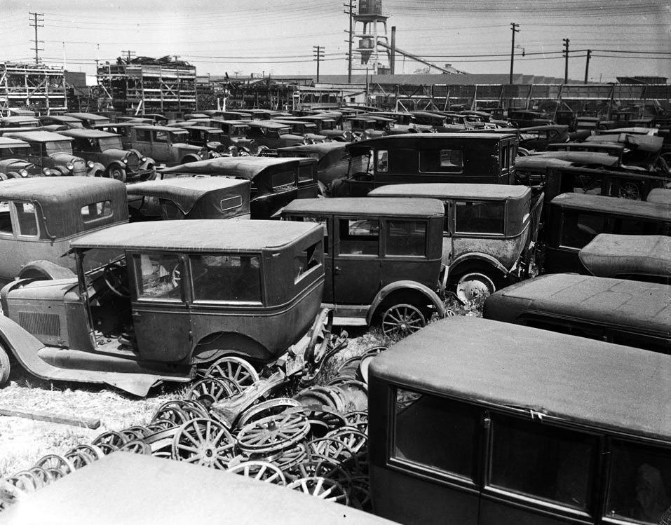 1930\'s-1940\'s Old Car Junk Yard - Los Angeles - | junkyard love ...