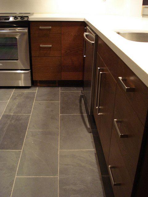 12 By 24 Slate Tile Trendy Kitchen Tile Kitchen Renovation Kitchen Floor Tile