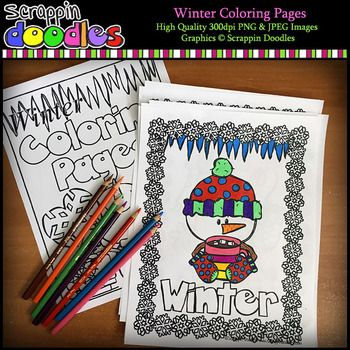 Our Winter Coloring Pages Includes 6 Black And White 1