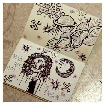 Notebook Doodles #art #doodle #sketchbook #illustration #notebook #moondoodle