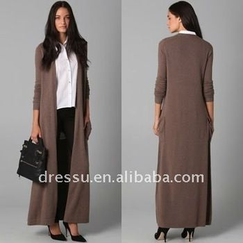 Open Front Lady Fashion Long Cashmere Cardigan, View fashion ...