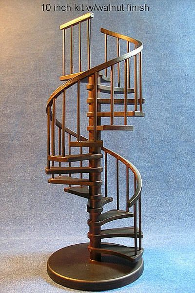 Authentic Models Grand Staircase Architectural Model. 10 Inch Spiral Stairs  Sculpture Need A Tight Metal