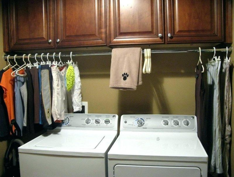 Awesome Laundry Room Corner Cabinet | Diy clothes rack ...