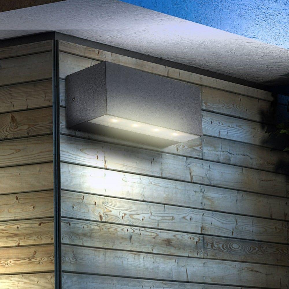 Led Wand Leuchte Alu Up Down Lampe Aussen Spot Strahler Beleuchtung Haus Lampe Eur 35 85 Lampen Aussen Aussenbeleuchtung Beleuchtung