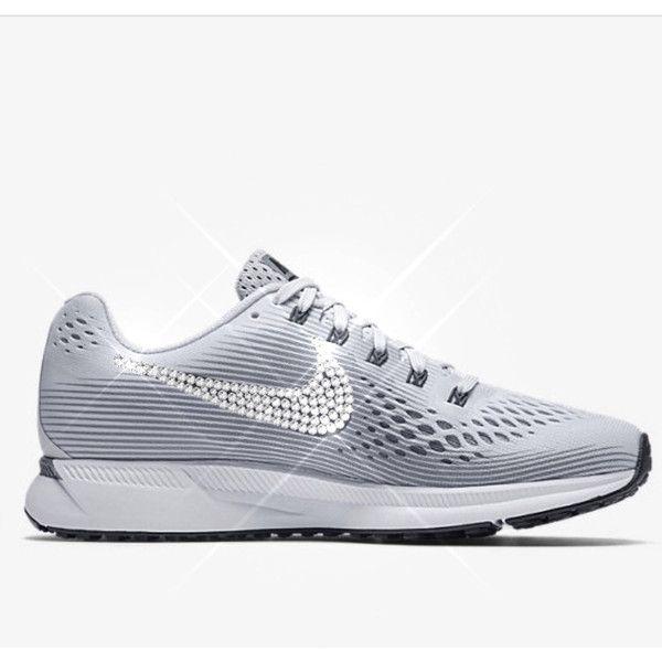 Bling Nikes Crystal Nikes Bling Nike Air Zoom Pegasus 34 Sparkly Nikes... ( 63e0dba24