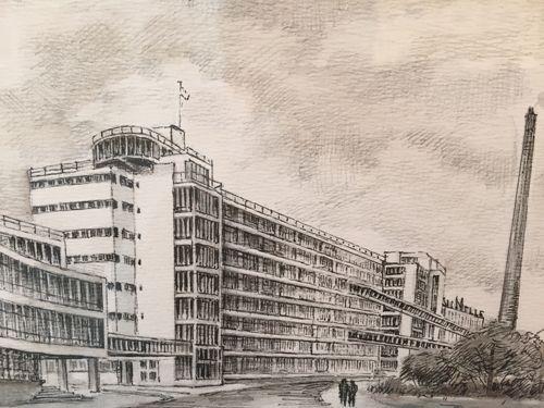 Sander Dragstra Pentekening van Nelle Fabriek