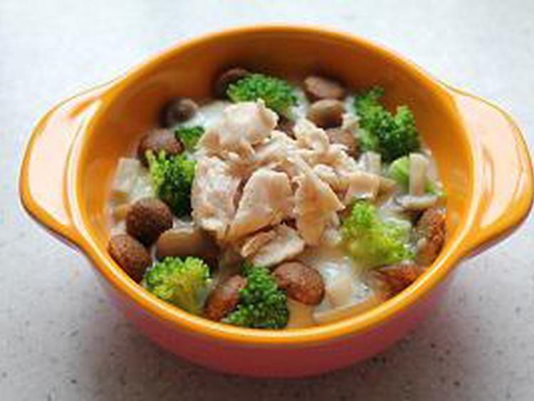 鶏ささみのクリーム煮 犬の手作りごはんレシピならわんシェフ 犬 ご飯 レシピ レシピ ご飯 レシピ