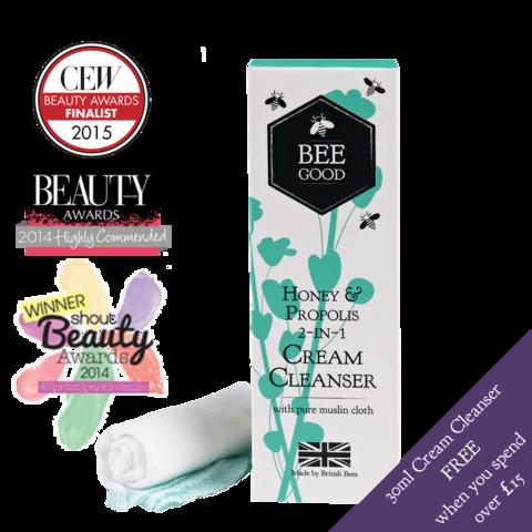 Bee Good natural skincare - Honey & Propolis 2-in-1 Cream Cleanser beegood.co.uk