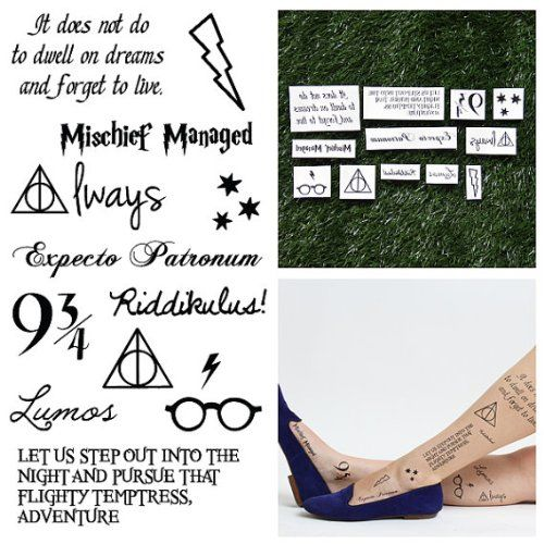 Tattify Harry Potter Temporary Tattoos You Re A Wizard Set Of 24 Harry Potter Tattoos Tattoo Set Harry Potter Gifts