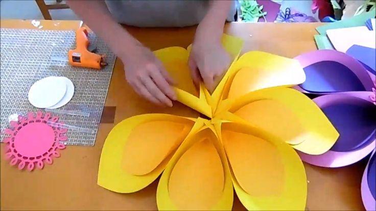 Hawaiianische Blumen Papierblumen große Papierblumen Vorlagen & Tutorial SVG-Dateien Tropical Party Moana Geburtstag Hintergrund #paperflowers