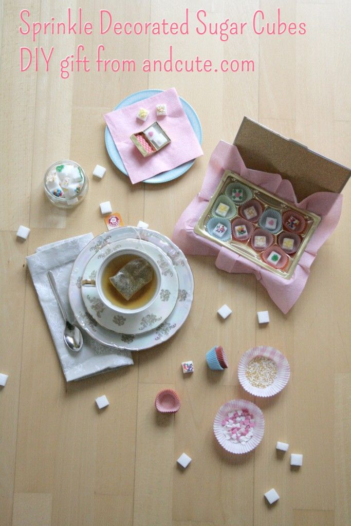 Tea and Sprinkled Sugar Cubes