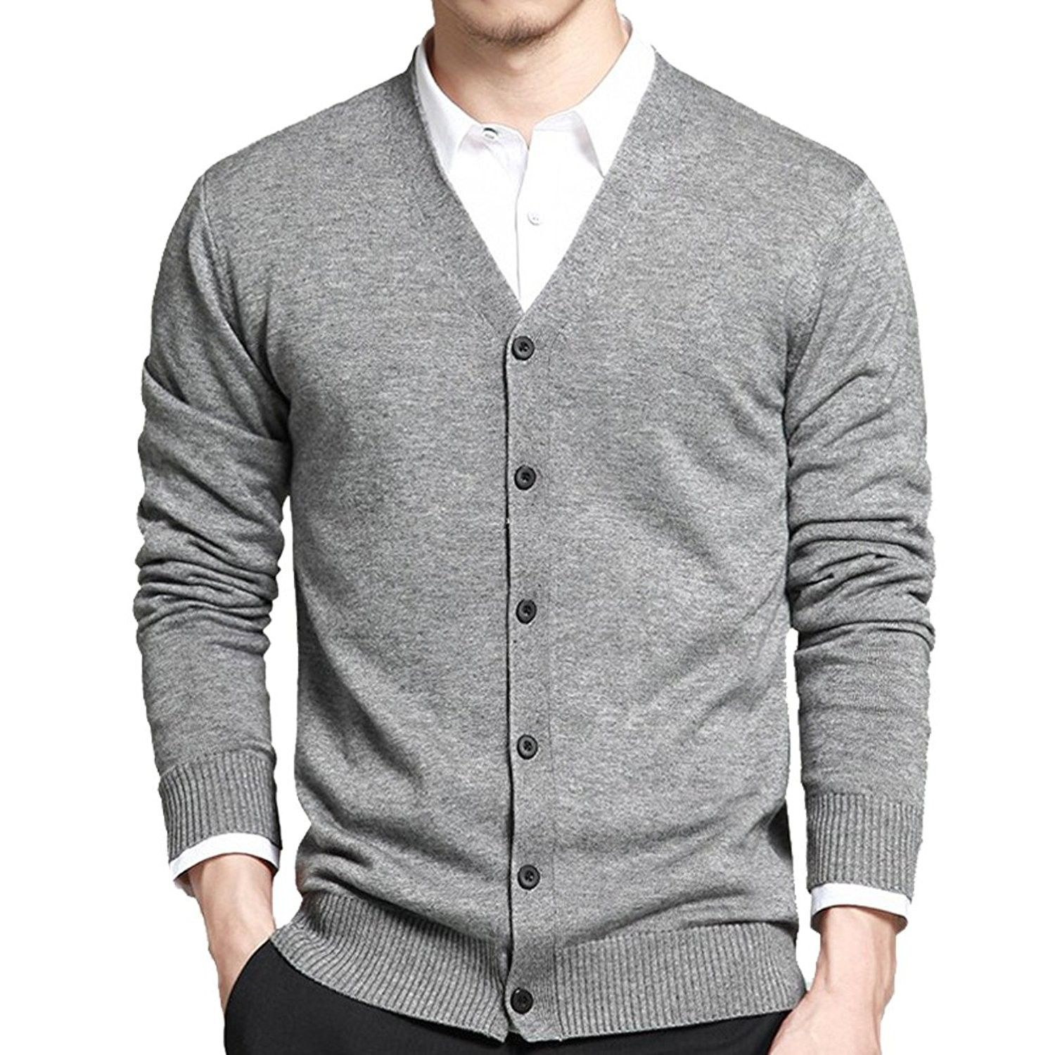 Men's Clothing Gant For Mens Fitted Shawl V-neck Long Sleeve Cardigan Jumper Wool Knit Medium M Jumpers & Cardigans