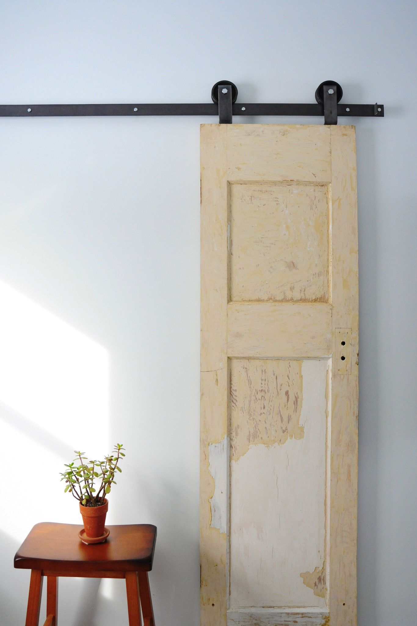 With A Minimalist Approach The Top Mount Barn Door