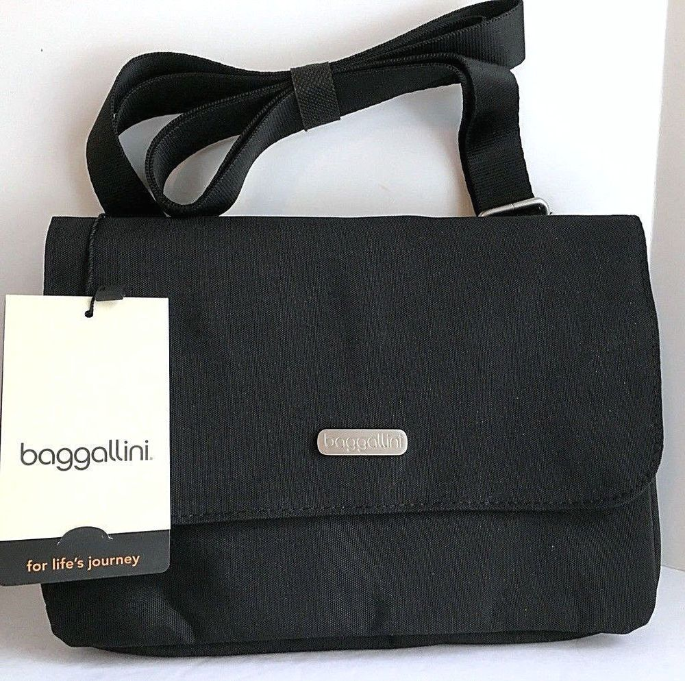f69c59dd8b NEW BAGGALLINI Venture Crossbody Black Nylon Organizer Bag VEN250BSA ...