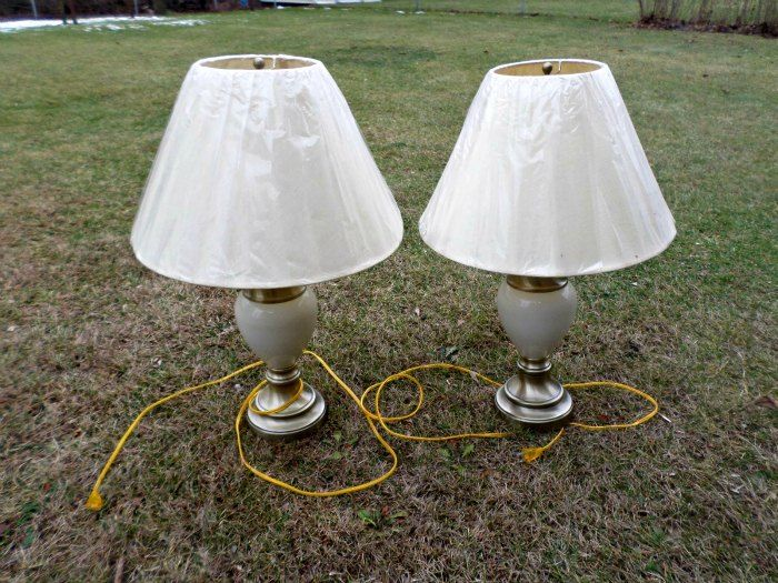 diy lamp shade base makeover own while and the o jays rh pinterest com wiring your own lamp Table Lamp Wiring Diagram