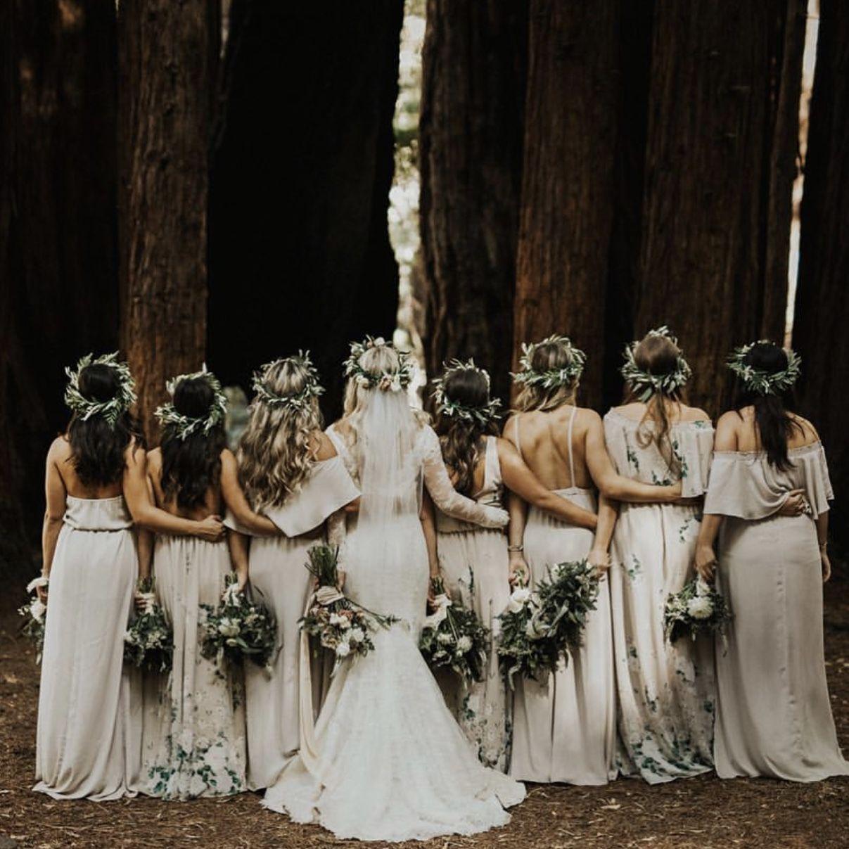 Show Me Your Mumu Bridesmaid Dresses Bouquet Toss And Show Me