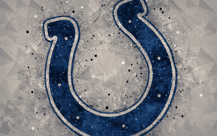 Download Wallpapers Indianapolis Colts 4k Logo Geometric Art American Football Club Creative Art Gray Abstract Background Nfl Indianapolis Indiana Usa Indianapolis Colts Geometric Art Creative Art