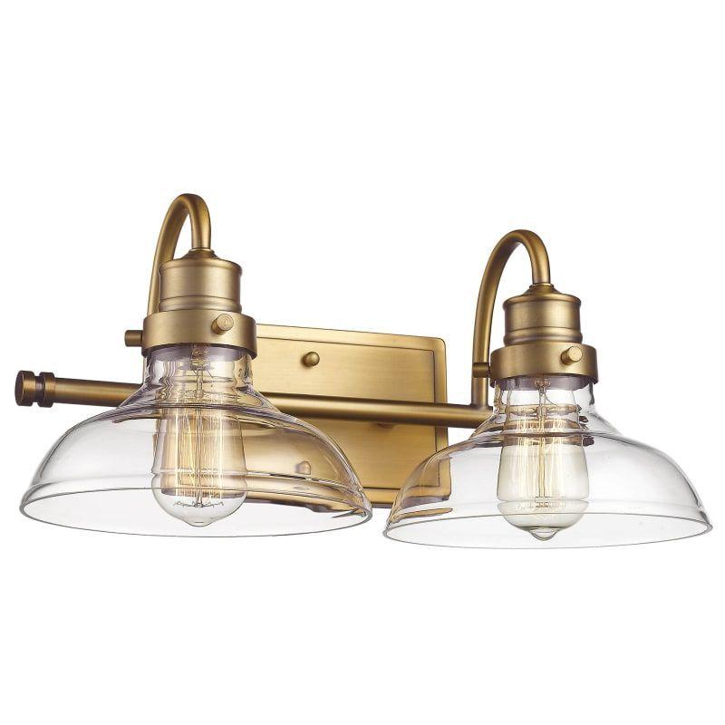 "Photo of Millennium Lighting 2312-HBZ Heirloom Bronze 2 Light 17 ""Wide bathroom vanity light with glass shades"