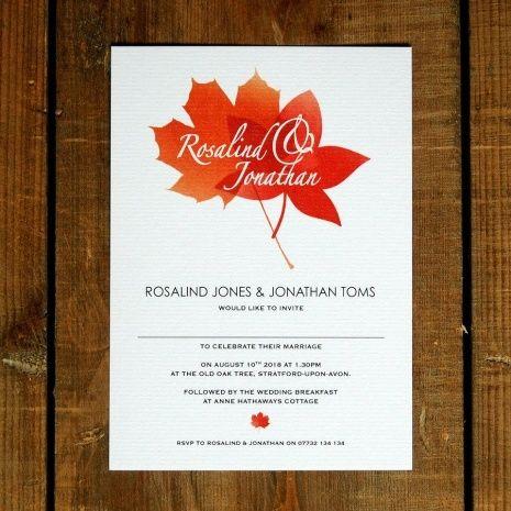 Autumn Wedding Invitations Wedding Ideas Pinterest Autumn